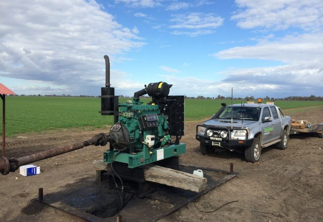 New engine fitted by Diesel Gas Moree. Front view installment.